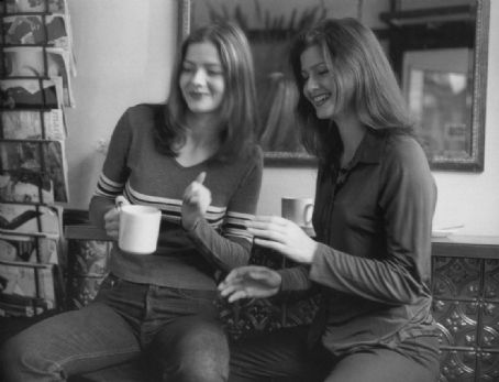 Jill Hennessy  and Jacqueline Hennessy b&w photoshoot