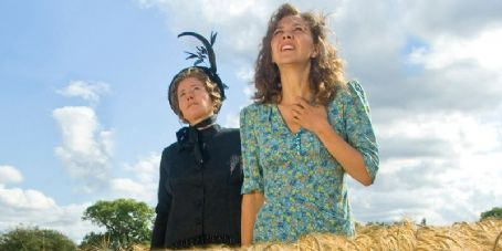 Emma Thompson as Nanny McPhee and Maggie Gyllenhaal star as Mrs. Green in Universal Pictures' Nanny McPhee Returns.