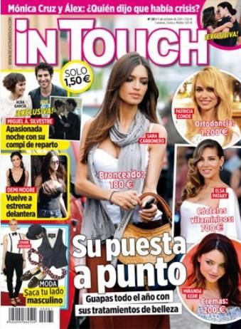 Sara Carbonero, Elsa Pataky, Miranda Kerr - In Touch Magazine Cover [Spain] (28 September 2011)