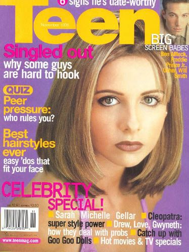 Sarah Prinze - Teen Magazine [United States] (November 1999)