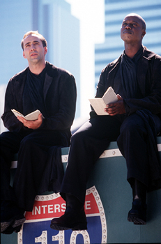 City of Angels Nicolas Cage and Andre Braugher in Warner Brothers' City Of Angels - 1998