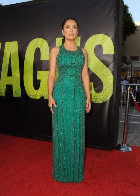 "Salma Hayek: ""Savages"" showed up for the film's Los Angeles premiere"