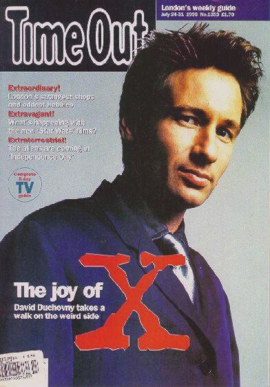 David Duchovny - Time Out Magazine [United Kingdom] (24 July 1996)