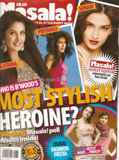 Sonam Kapoor - Ahlan! Masala Magazine [India] (11 August 2010)