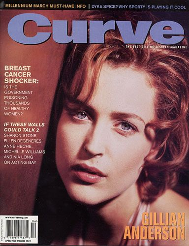 Gillian Anderson - Curve Magazine [United States] (April 2000)