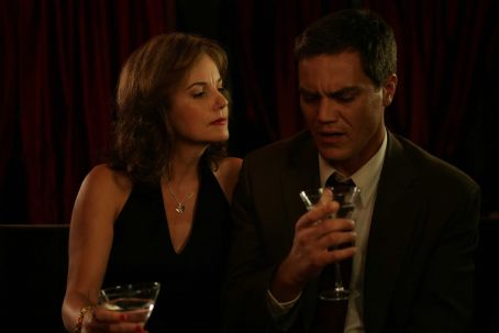 Margaret Colin  as Lana Cobb and Michael Shannon as John Rosow in The Missing Person.