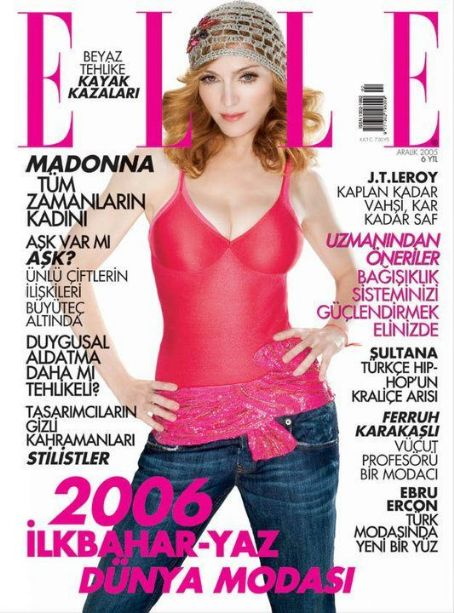 Madonna - Elle Magazine Cover [Turkey] (December 2005)