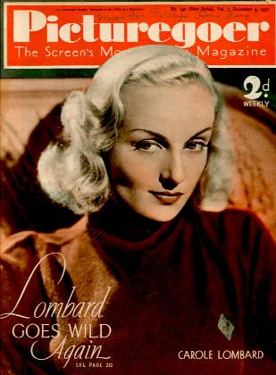 Carole Lombard - Picturegoer Magazine [United Kingdom] (4 December 1937)