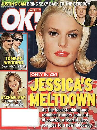 Jessica Simpson - OK! Magazine Cover [United Kingdom] (9 October 2006)