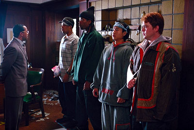Obba Babatunde, Method Man, Redman,Trieu Tran and Justin Urich in Universal's How High - 2001