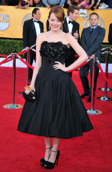 Emma Stone Picks McQueen For Her Big SAG Awards Night
