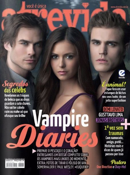 Nina Dobrev, Ian Somerhalder, Paul Wesley - Atrevida Magazine Cover [Brazil] (1 March 2012)