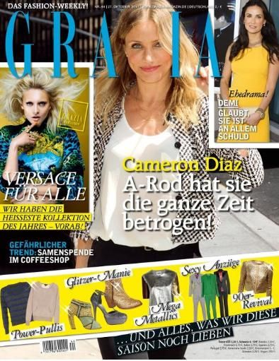 Cameron Diaz - Grazia Magazine Cover [Germany] (October 2011)