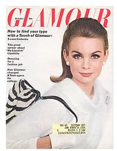 Jean Shrimpton - Glamour Magazine [United Kingdom] (October 1963)
