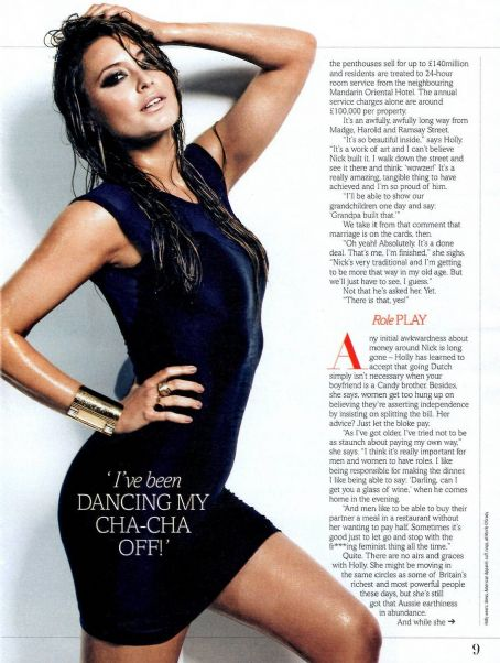 Holly Valance Fabulous Magazine October 2011