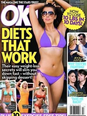 Kim Kardashian - OK! Magazine Cover [United States] (23 April 2012)
