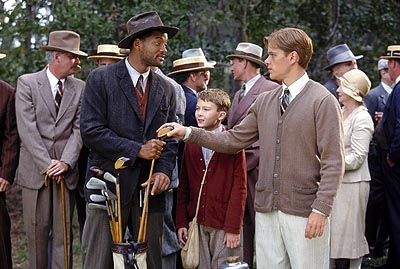 J. Michael Moncrief Will Smith,  and Matt Damon in Dreamworks' The Legend of Bagger Vance - 2000