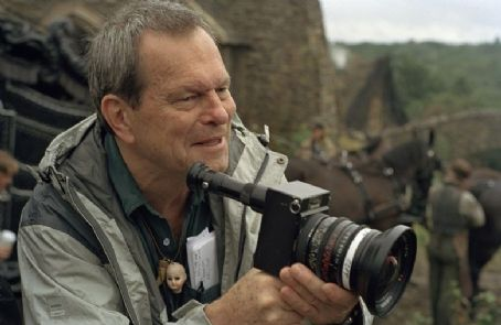 Terry Gilliam  on set at Barrandov Studios, Prague, Photo: Francois Duhamel