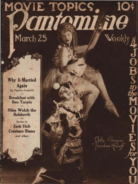 Betty Compson - Pantomime Magazine [United States] (25 March 1922)