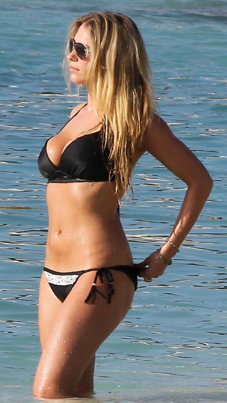April Summers  Black Bikini Candids In Barbados