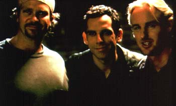 Director David Veloz, Ben Stiller and Owen Wilson in Permanent Midnight