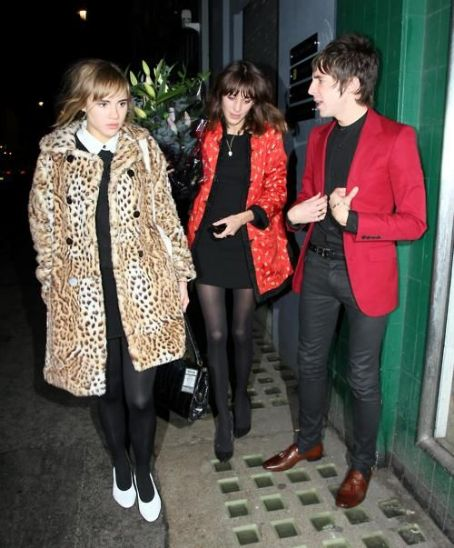 Suki Waterhouse Miles Kane,  and Alexa Chung (2012)