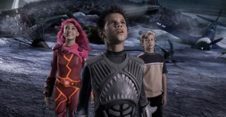Sharkboy (L-r) Taylor Dooley, Taylor Lautner and Cayden Boyd in Dimension Films' action adventure 'The Adventures of Shark Boy & Lava Girl in 3-D'.