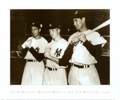 Mickey Mantle Joe Dimaggio, Mickey & Ted Williams