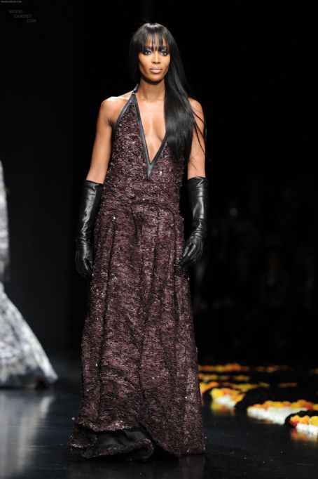 Naomi Campbell Walks the Runway at the Roberto Cavalli Autumn/Winter 2012/2013 Show