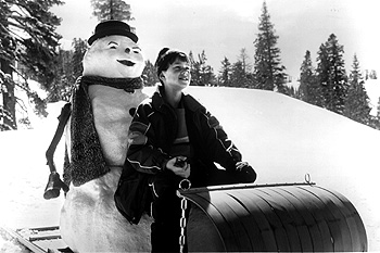 Jack Frost Joseph Cross with his father reincarnated as a snowman in Warner Brothers'  - 1998