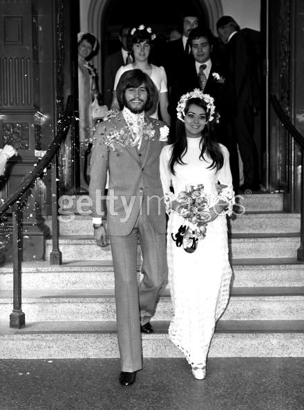Linda Gray and barry gibb