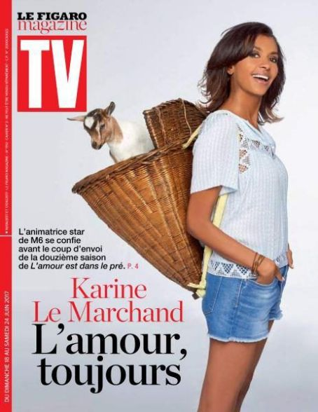 Karine Le Marchand - TV Magazine Cover [France] (18 June 2017)
