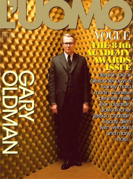 Gary Oldman - L'Uomo Vogue Magazine Cover [Italy] (February 2012)