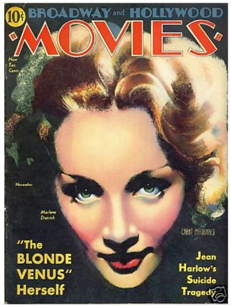Marlene Dietrich - Movies Magazine [United States] (November 1932)