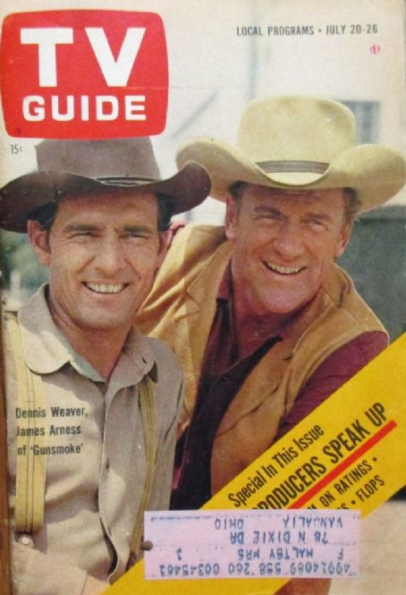James Arness - TV Guide Magazine Cover [United States] (20 July 1963)
