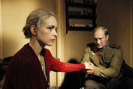 Evgeniy Sidikhin Anonyma (Nina Hoss) and Major Andreij Rybkin (Yevgeni Sidikhin) in A Woman in Berlin.