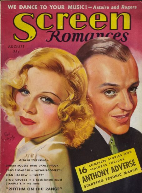 Ginger Rogers - Screen Romances Magazine [United States] (August 1936)