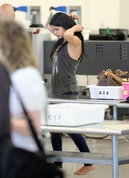Selena Gomez arrives in Atlanta at the airport September,13,2012