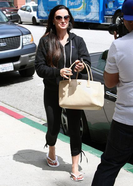 Kyle Richards: during a manicure and pedicure in LA