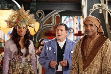 Michael Dorn (L-R) Aisha Tyler, Art LaFleur, . Photo credit: Joseph Lederer © Disney Enterprises, Inc. All rights reserved.
