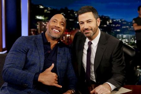 Dwayne Johnson at 'Jimmy Kimmel Live!' (December 2017)