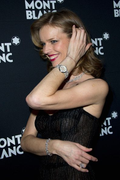 Eva Herzigova attends the Montblanc Princesse Grace De Monaco VIP Dinner on January 17, 2012 at Hotel D'Angleterre in Geneva, Switzerland