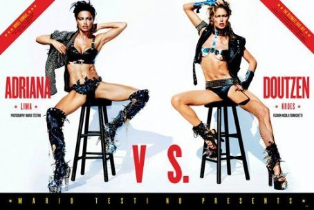 Adriana Lima and Doutzen Kroes: 2012 Sports issue of V magazine