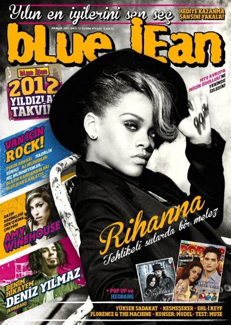 Rihanna - blue jean Magazine Cover [Turkey] (December 2011)