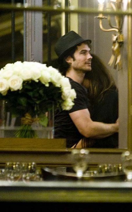 Nina Dobrev and Ian Somerhalder were spotted getting cozy in Paris last night, May 25