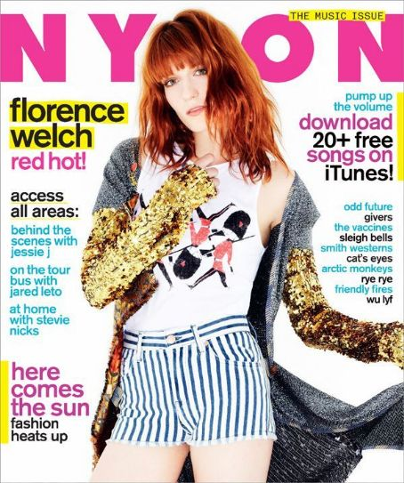 Florence Welch - Nylon Magazine Cover [United States] (July 2011)