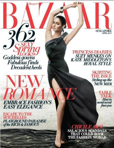 Nicole Trunfio - Harpers Bazaar Magazine Cover [Singapore] (April 2011)