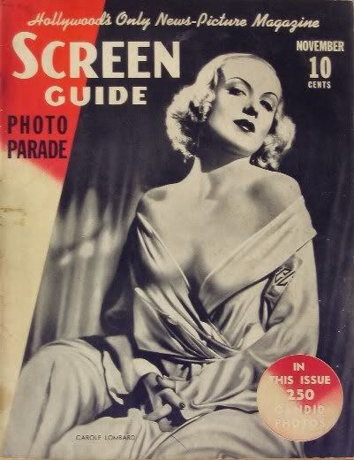 Carole Lombard - Screen Guide Magazine [United States] (November 1937)
