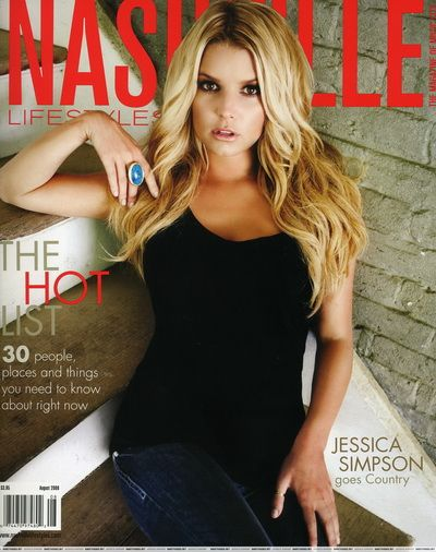 Jessica Simpson - Nashville Lifestyle Magazine Cover [United States] (August 2008)