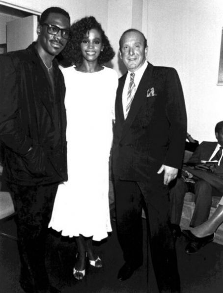 Clive Davis Eddie Murphy and Whitney Houston